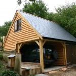 "2 Bay Oak framed building with room over ""Sway"""