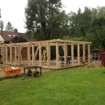 green oak framing car port garage house