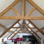 green oak truss