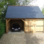 "2 Bay Oak Framed Garage - ""Burley"""