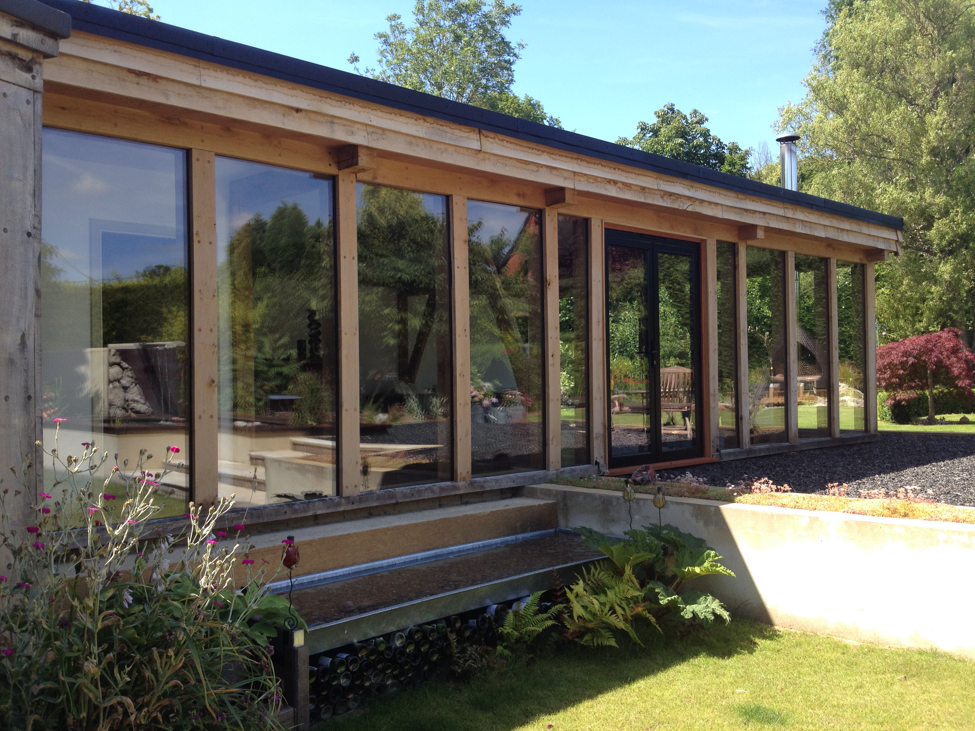 oak framed garden room 2 bespoak framing