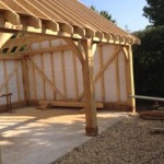 Oak Framed Garage Front Elevation